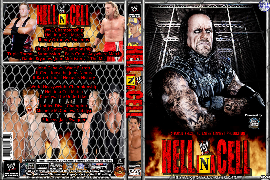 WWE Hell in a Cell 2010 Cover by AladdinDesign