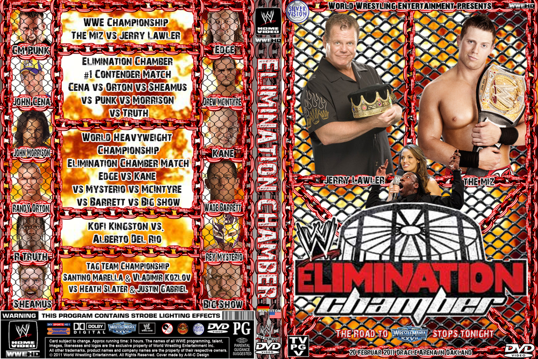 Image result for elimination chamber 2011 poster