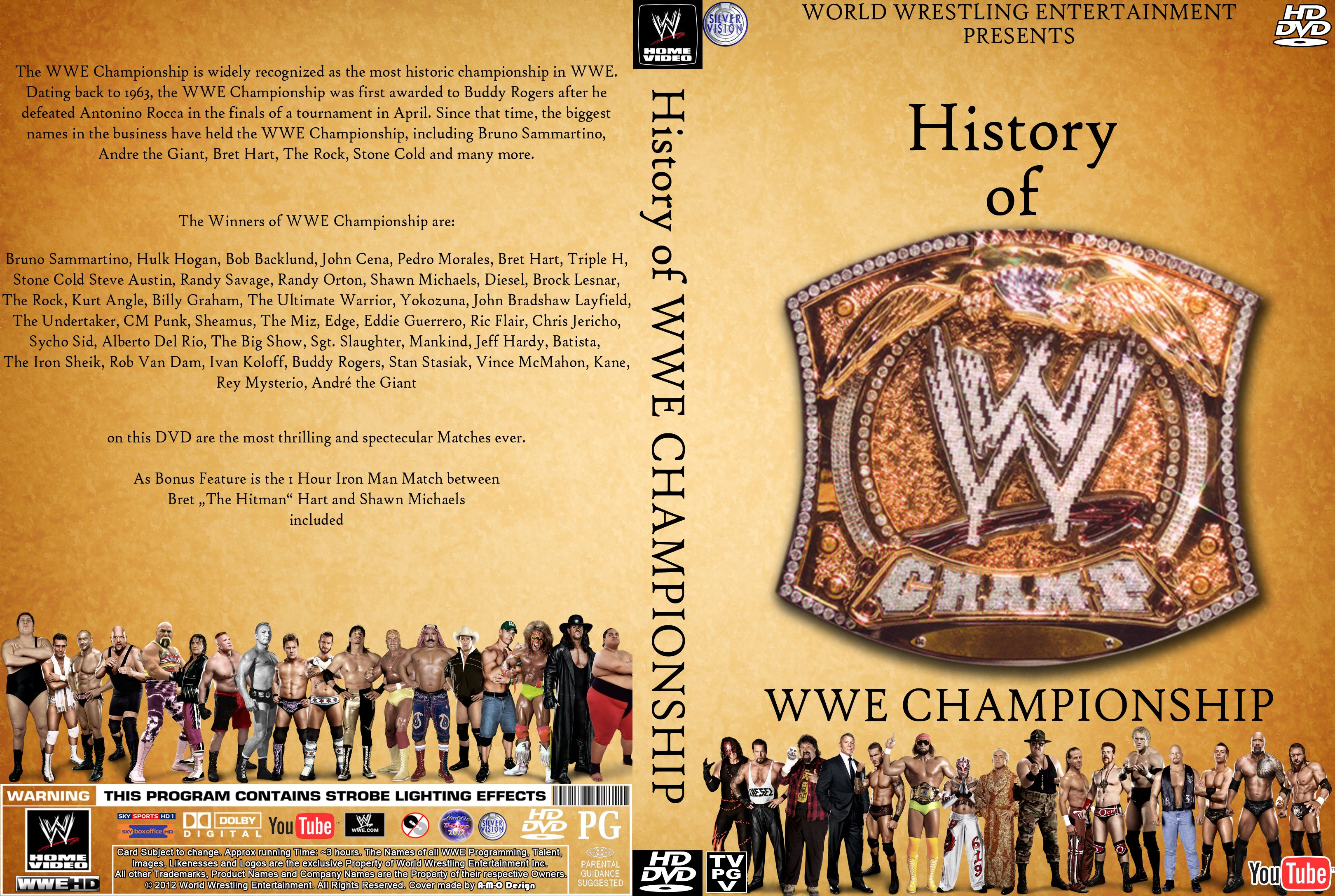 The History Of WWE Championship Cover By AladdinDesign On