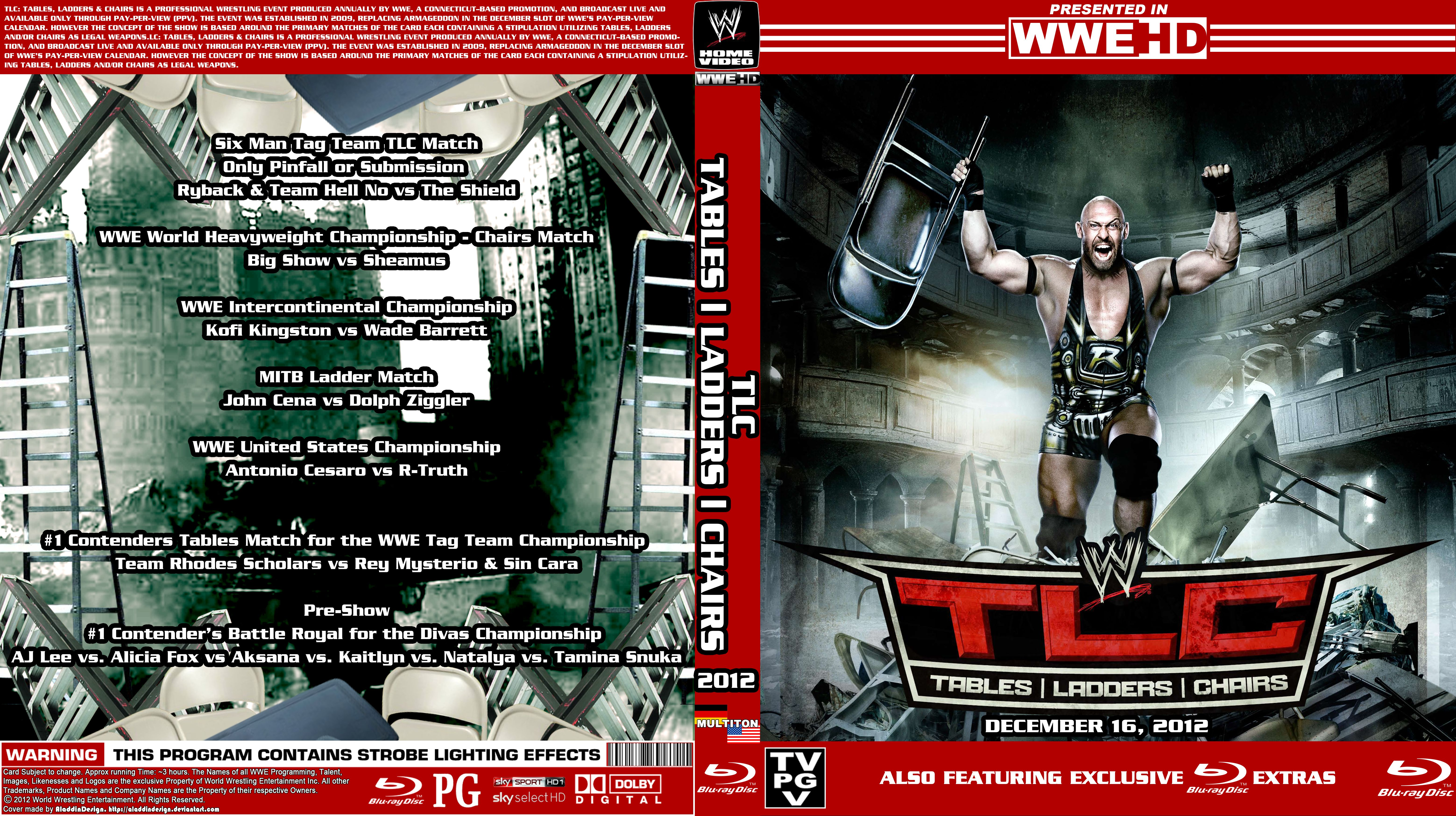 Wwe tables ladders and chairs 2013 poster - Aladdindesign 0 0 Wwe Tlc Tables Ladders Chairs Cover 2012 By Aladdindesign