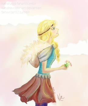 Goodbye with Flowers by kat-draws-fanart