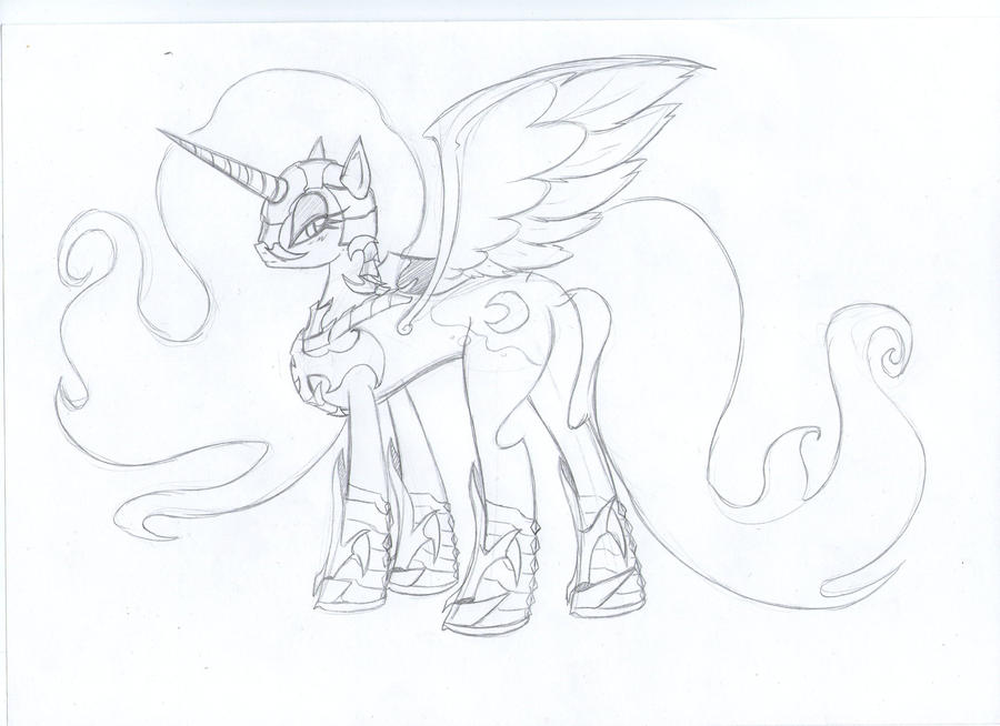 My Little Pony Coloring Pages Nightmare Moon : My little pony nightmare moon coloring pages