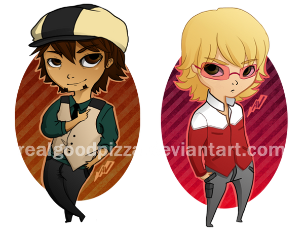 TIGER and BUNNY Keychains/Stickers by realgoodpizza