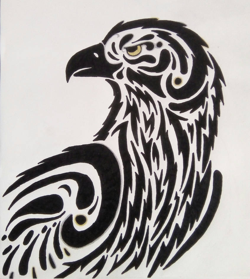 075c9a6e9 Tribal Eagle by HappyJay on DeviantArt