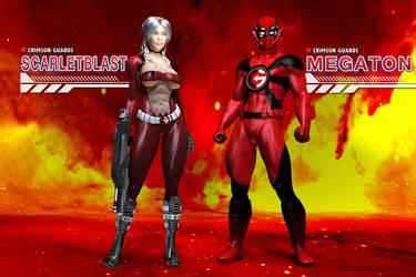 Crimson Guards: ScarletBlast and MEGATON by Sandmarine