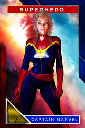 Captain Marvel (Playing Card)