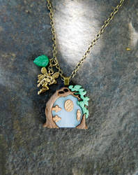 Fairy door necklace by FeynaSkydancer