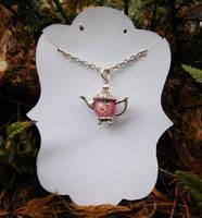 Rose Teapot Pendant by FeynaSkydancer