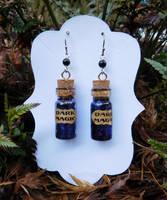 Bottled Dark Magic Earrings by FeynaSkydancer