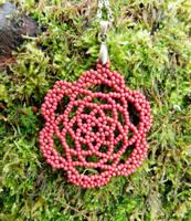 Beaded Lace Pendant by FeynaSkydancer