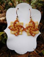 Twist Stitch Earrings by FeynaSkydancer