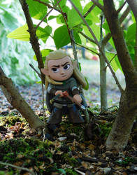 Legolas in the woods by FeynaSkydancer