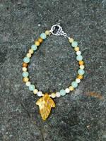 First Leaf of Autumn/Lothlorien Bracelet by FeynaSkydancer