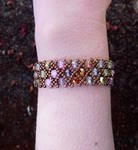 Net Pattern Bracelet by FeynaSkydancer