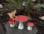 Mushroom Table and Chairs set by FeynaSkydancer