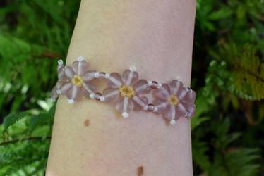 Heart flower bracelet 2 by FeynaSkydancer