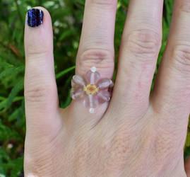 Heart flower ring 2 by FeynaSkydancer