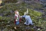 The Elf and his Reindeer by FeynaSkydancer