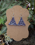 Clay Purple Celtic Earrings by FeynaSkydancer