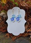 Winter Flower Earrings by FeynaSkydancer