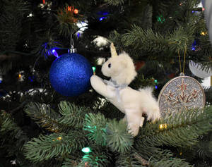 Little Lost Unicorn  Uni in the Christmas tree