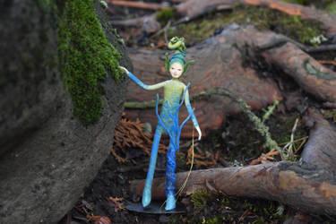 Urchin the water fairy by FeynaSkydancer