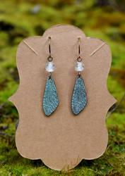 Wings of the Fae Earrings by FeynaSkydancer