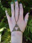 Celtic Triforce Slave Bracelet 2 by FeynaSkydancer