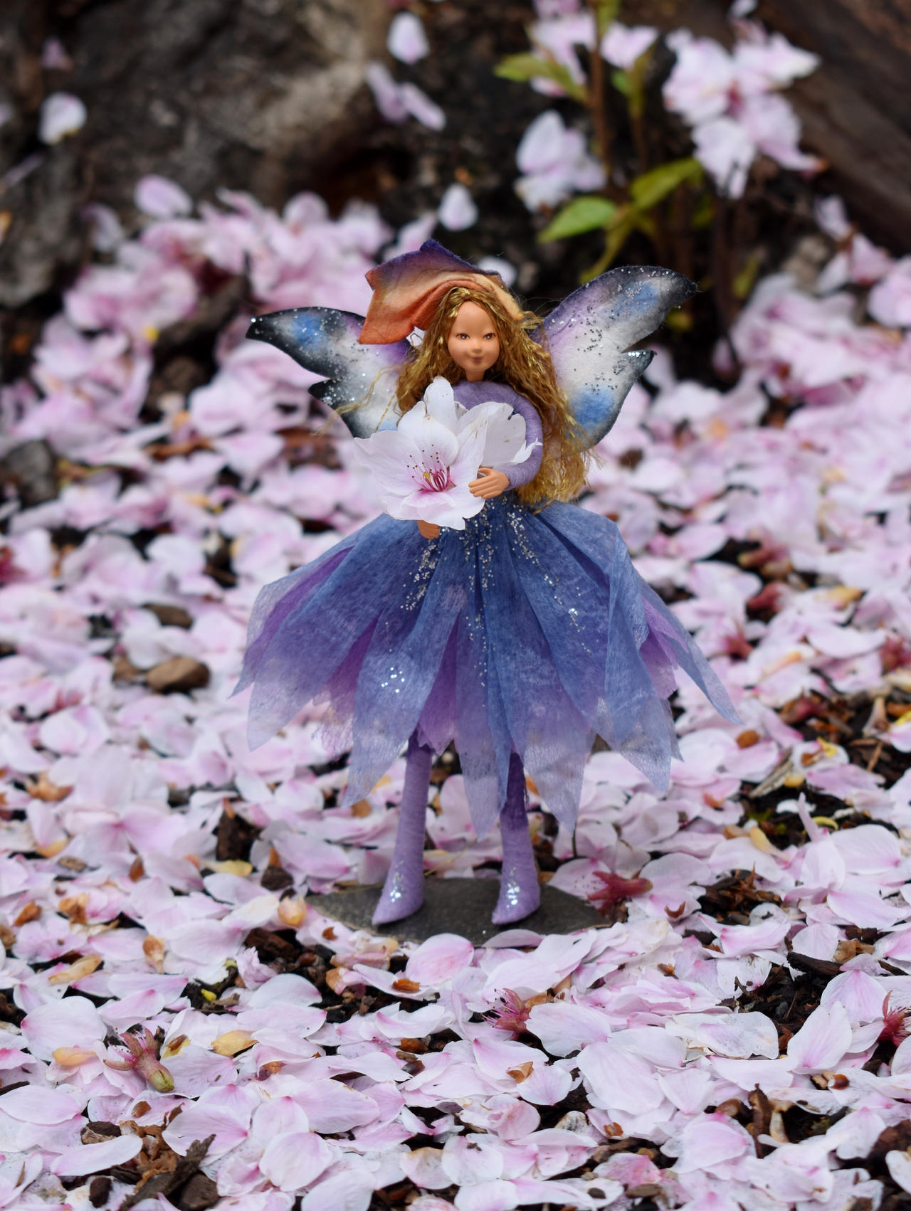 Fairy in the Pink Snow