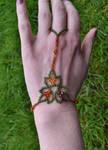 Triple Leaf Slave Bracelet by FeynaSkydancer
