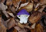 Purpletop in the leaves by FeynaSkydancer