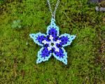 Moonbell Flower Pendant by FeynaSkydancer