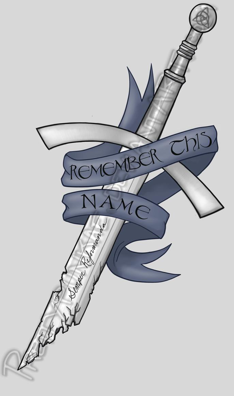 celtic sword tattoo design finished by prettypunkae on