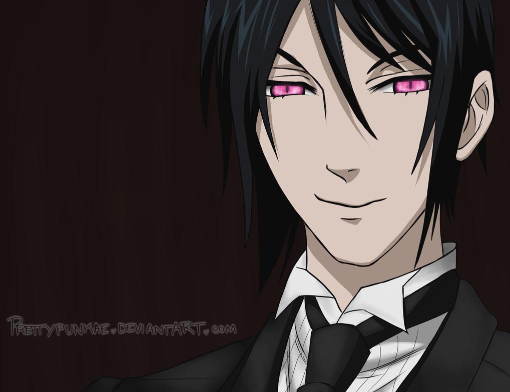 Sebastian Michaelis (demon eyes) by prettypunkae