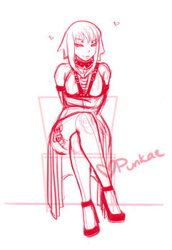 Medusa - A Witch's Predicament (Early WIP sketch)