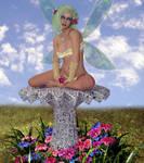 Pretty Butterfly - Fantasy Art Woman
