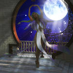 Megah in the moonlight by G-abi-K
