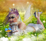 Maeve .... on the summer meadow,Fantasy art