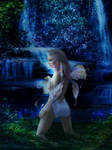 Fairy Eileen at the waterfall
