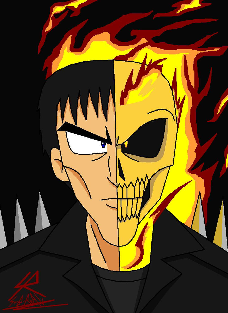 Ghost Rider-doble face...