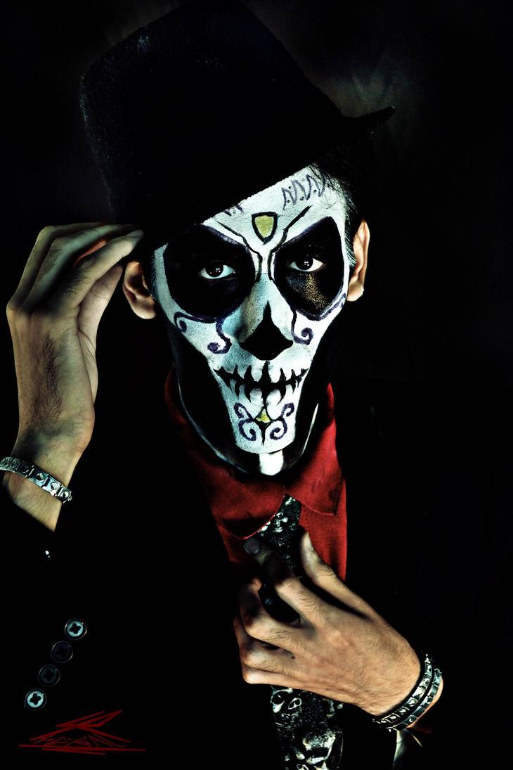 Half Face Paint Skeleton