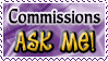 Commissions ASK ME - Stamp by Drache-Lehre