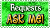Requests ASK ME - Stamp by Drache-Lehre
