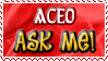 Aceo ASK ME - Stamp by Drache-Lehre
