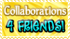 Collaborations 4FRIENDS  - Stamp by Drache-Lehre