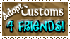 Adopt Customs 4FRIENDS - Stamp by Drache-Lehre