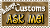 Adopt Customs ASK ME - Stamp by Drache-Lehre