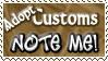Adopt Customs NOTE ME - Stamp by Drache-Lehre