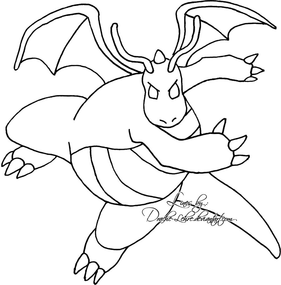 Pokemon Dragon Coloring Pages Sketch