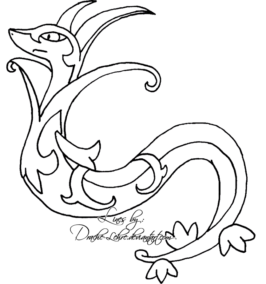 pokemon coloring pages servine pictures - photo#16